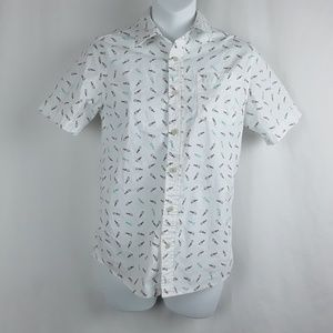 Urban Outfitters Shirts & Tops - Urban Pipeline Fish Bones Button Up Shirt Fishing
